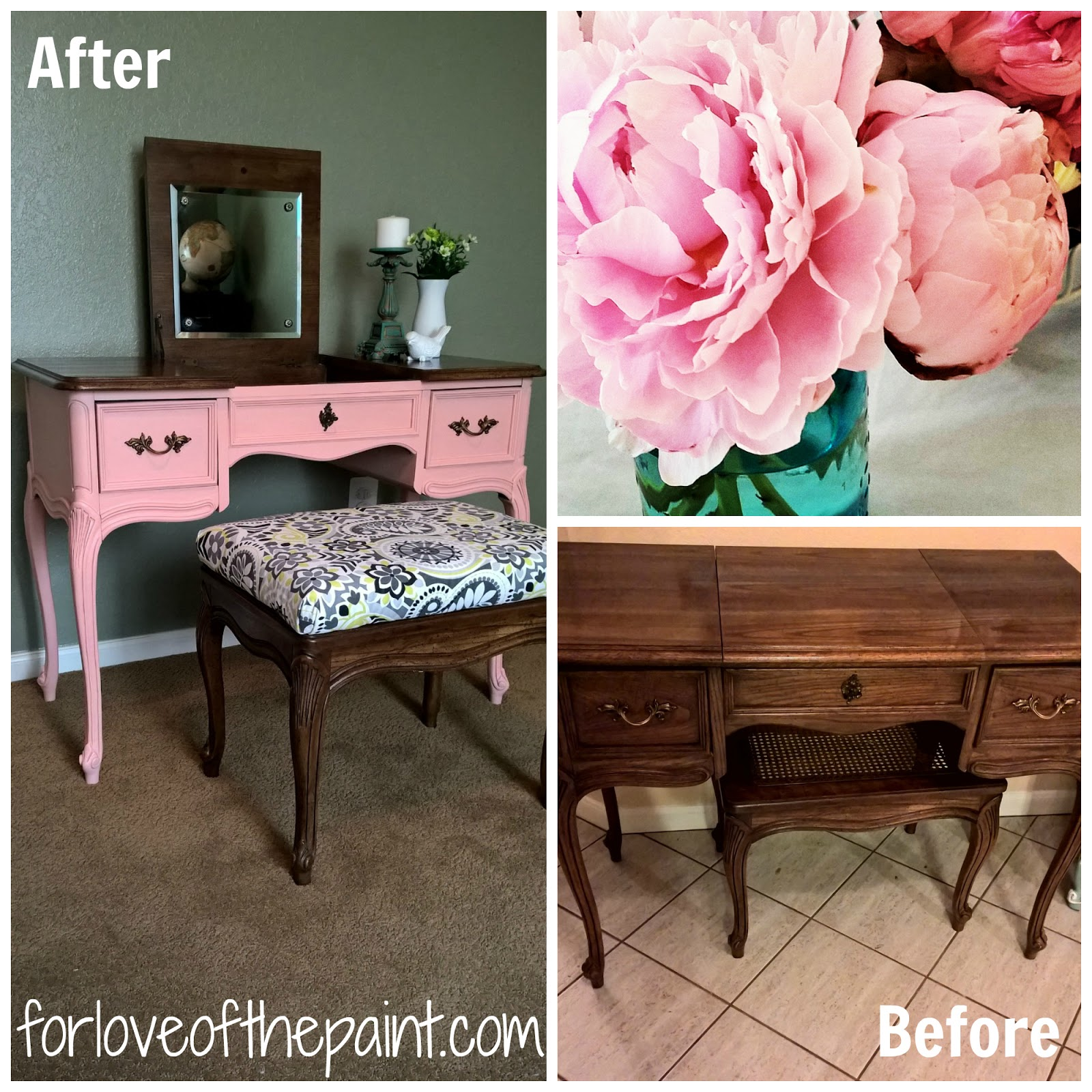 For love of the paint before and after vintage french provincial for love of the paint before and after vintage french provincial vanity makeover gumiabroncs Gallery
