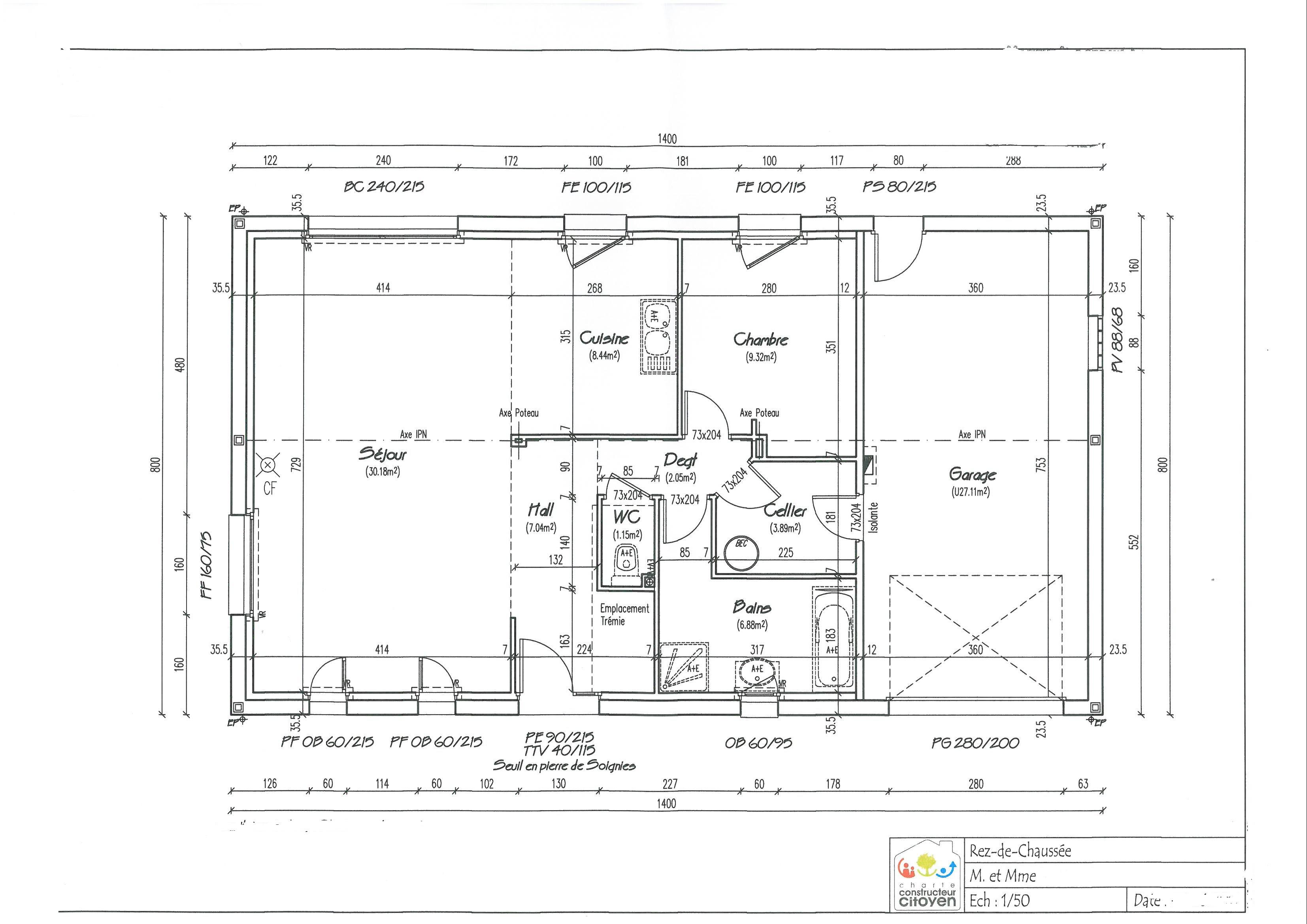Pz c plan maison - Dessin 3d maison ...