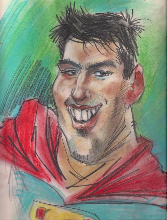 caricatura que hice en la calle de edgar