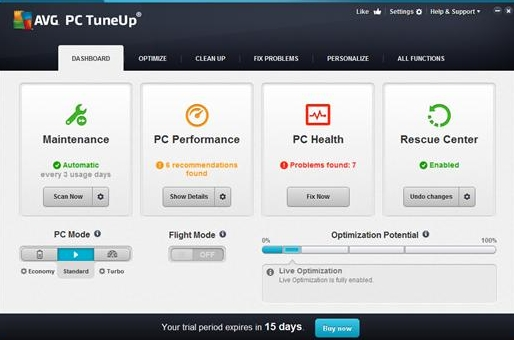 AVG PC Tuneup 2015 v15.0.1001.638
