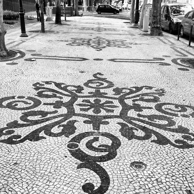 Cobblestone patterns in Lisbon on Instagram on Semi-Charmed Kind of Life