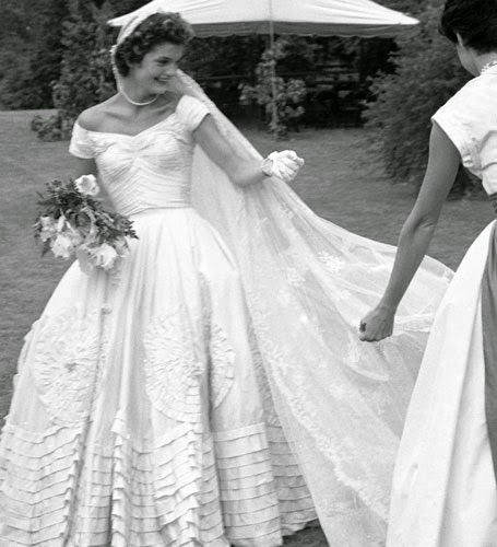 Gracie jewellery may 2015 for Jackie kennedy wedding dress