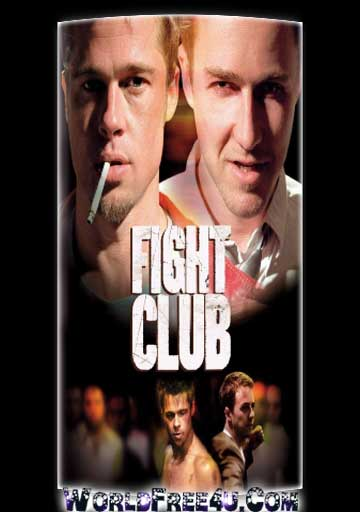 Poster Of Fight Club (1999) In Hindi English Dual Audio 300MB Compressed Small Size Pc Movie Free Download Only At Worldfree4uk.com
