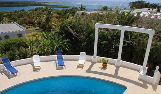 This villa enjoys beautiful views of St Lucia's Savannes Bay and Honeymoon Bay