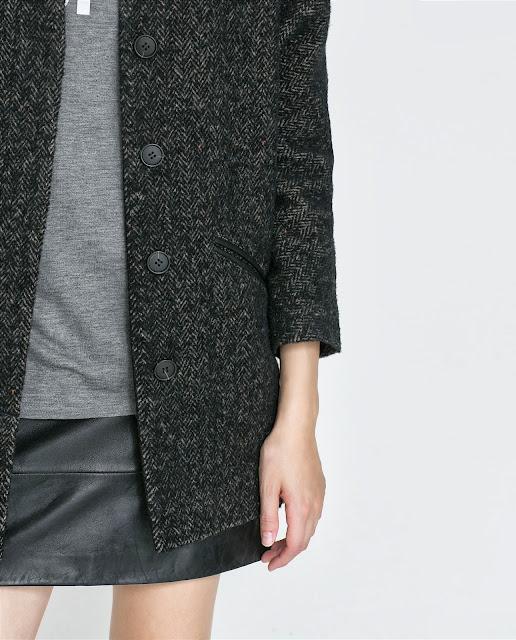 abrigo zara negro