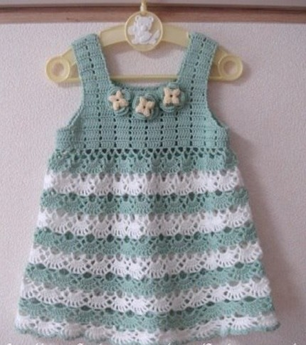Adorable Little Girl Dress - Free Crochet Diagram