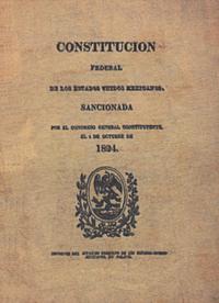 constitucion de 1824 primera constitucion de mexico