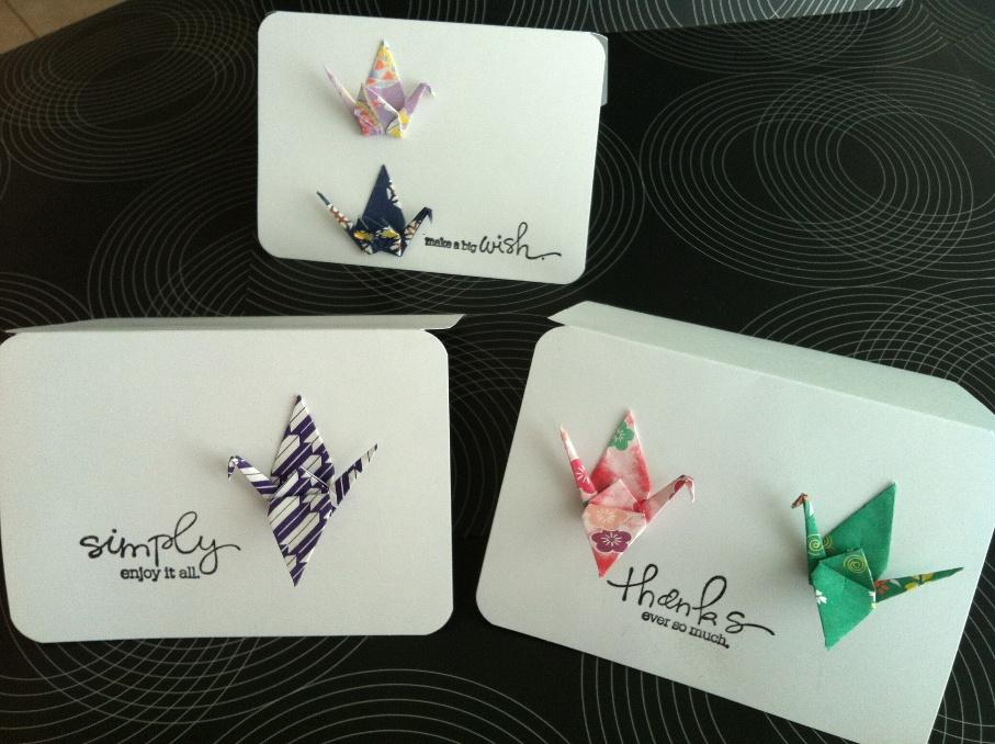 Origami Crane Card Lovelyelement