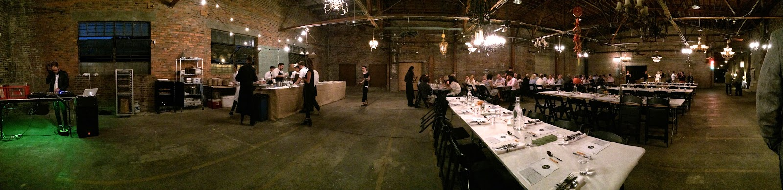 The Dinner Lab set up at the Olde Town Emporium in Baton Rouge, LA