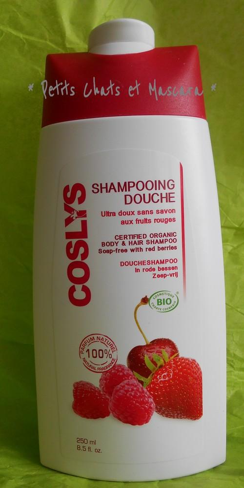 shampooing douche coslys bio fruits rouges