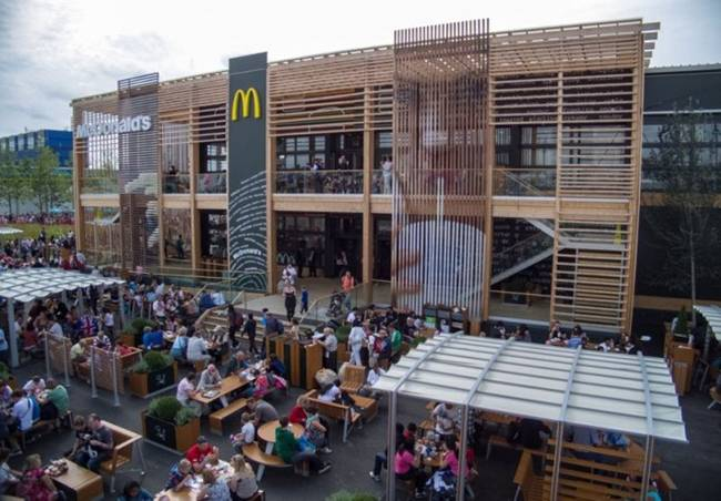 The world's biggest McDonald's, Olympic Park, London, UK