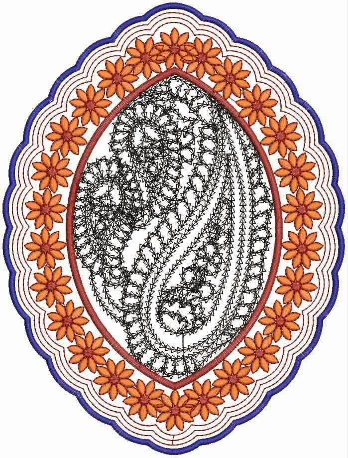 masjien appliekwerk borduurwerk ontwerp