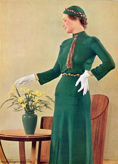 Модели платьев 30-х годов