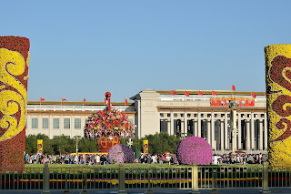 Tian'anmen Sqaure flower display for National Day 2012