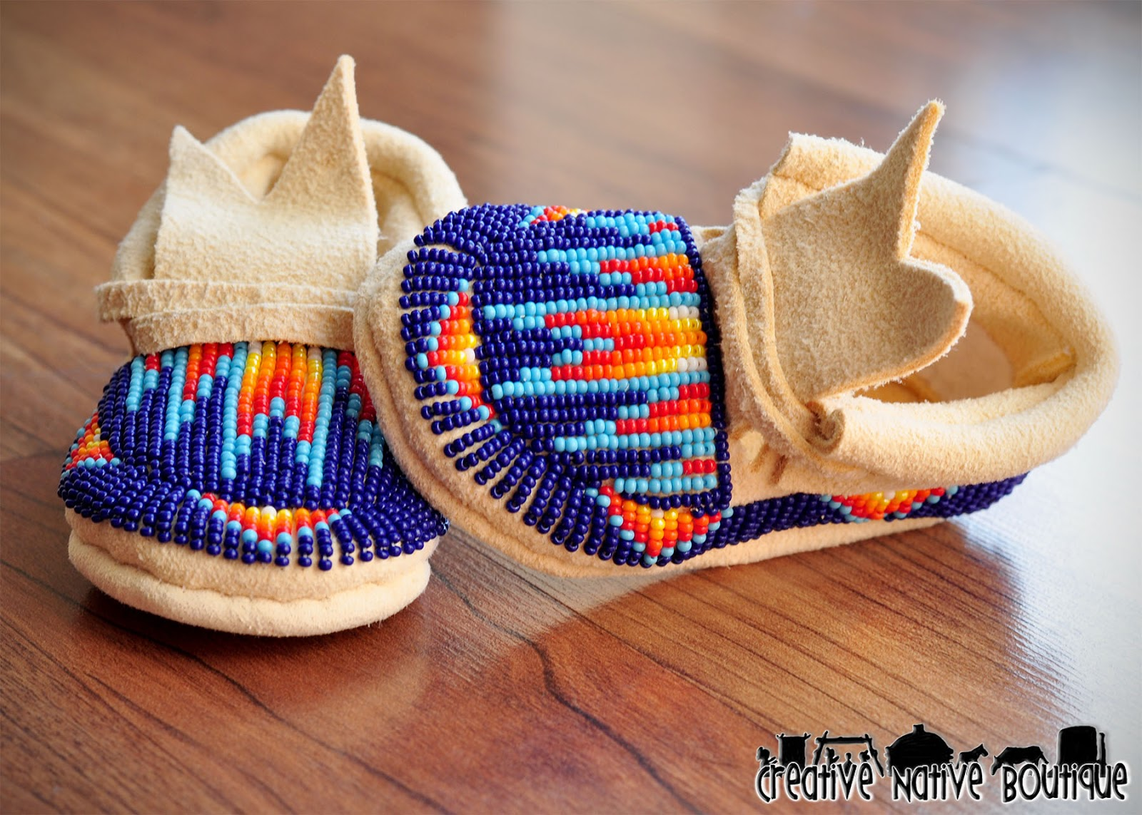 creative boutique custom beaded baby moccasins