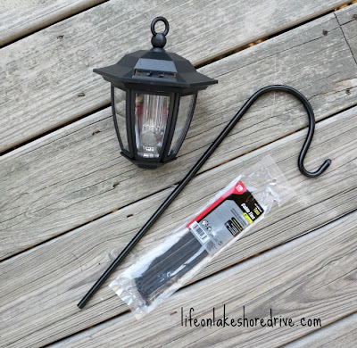DIY Solar Light Lamp Post with Flower Planter, Hampton Bay solar lights