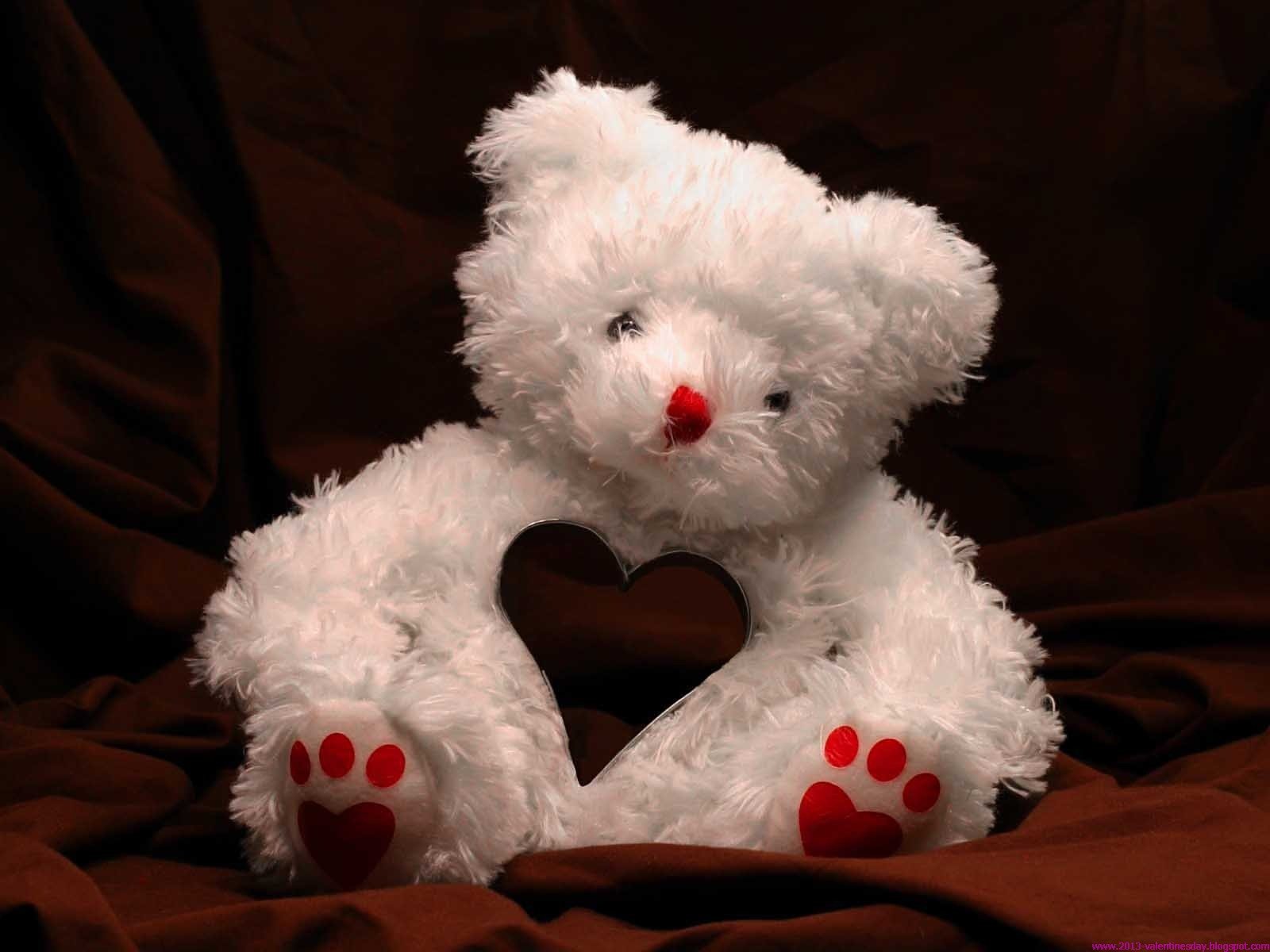 √ happy teddy bear day hd wallpaper | valentines day gift