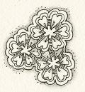 Zentangle-Muster. Tangle: Herzlbee Designer: Beate Winkler, CZT