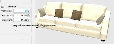 ukuran sofa minimalis modern