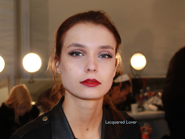 Lacquered Lover: Lacquered Lover Backstage at Carmen Marc Valvo with NARS and Ted Gibson!