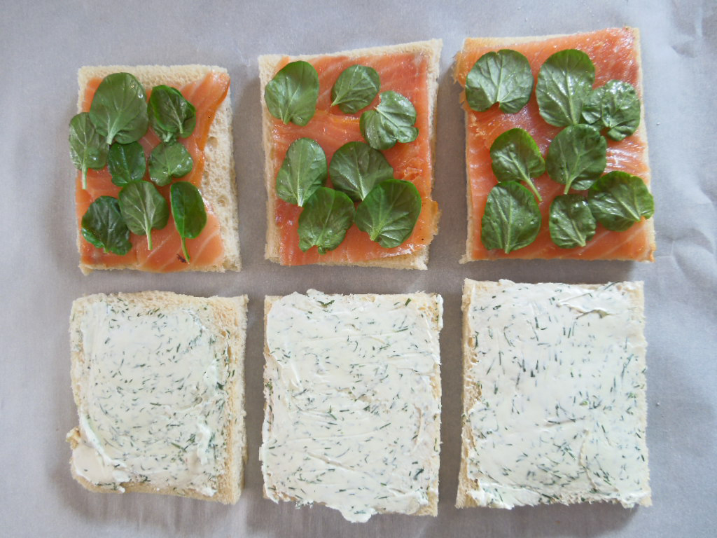 Smoked Salmon And Dill Tea Sandwiches Recipe — Dishmaps
