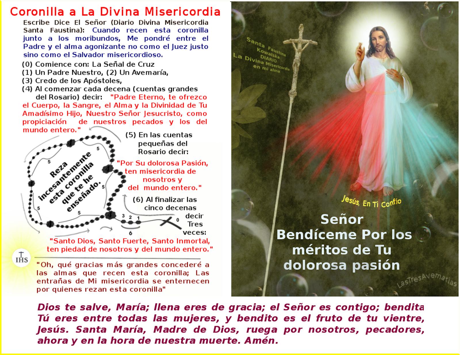 imagen de jesus y la forma de rezar la coronilla
