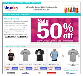 Virtamart Wordpress Theme Toko Online
