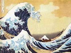 """The growing movement"": ""The Breaking Wave Off Kanagawa"" by Hokusai (1830-33)"