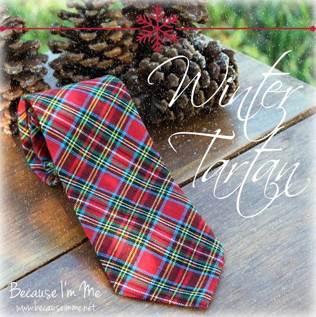 red plaid necktie for Christmas