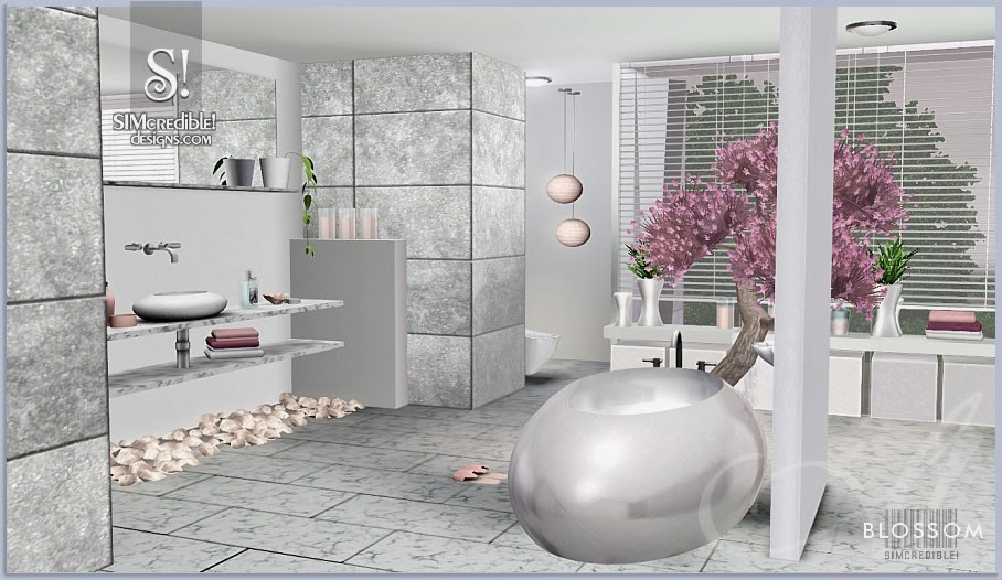 My sims 3 blog blossom bathroom by simcredible designs for Bathroom ideas sims 3
