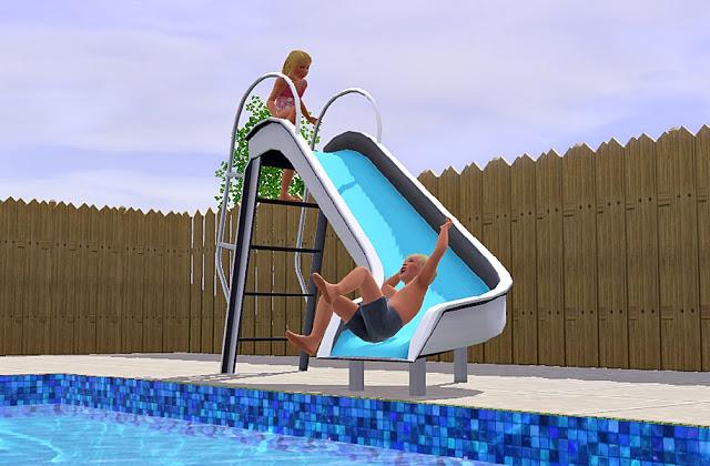 Mania the sims download escorregador de piscina for Piscina sims 4