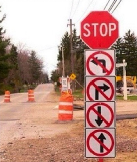 funny picture: confused road sign