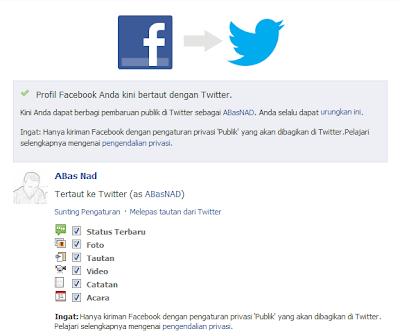 Cara Menghubungkan Facebook dengan Twitter, cara menghubungkan twitter di facebook, menghubungkan status facebook ke twitter, jejaringan social facebook twitter.