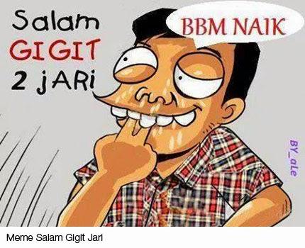 Meme Salam Gigit Jari : Gambar BBM Naik