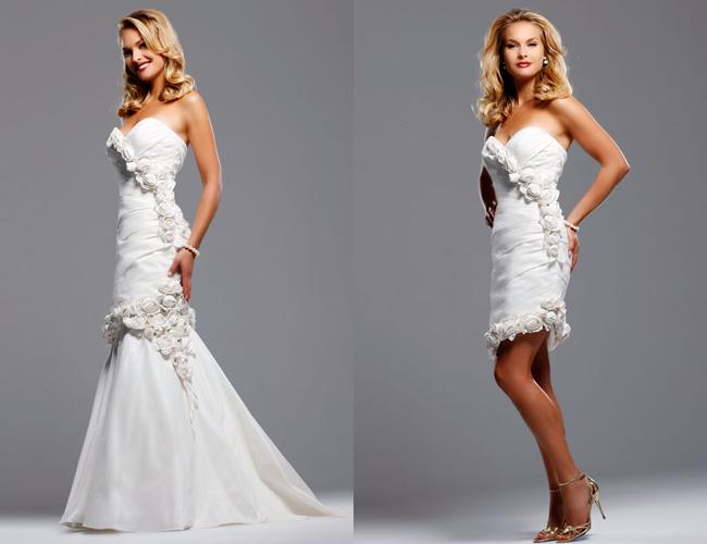 Platinum touch events april 2012 for Removable skirt wedding dress davids bridal
