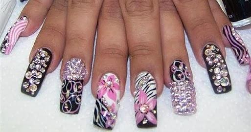 acrylic tip nail designs, Acrylic Nail, Beautiful Nail, Tip Designs,  perfect makeup - Beautiful Nail With Acrylic Nail