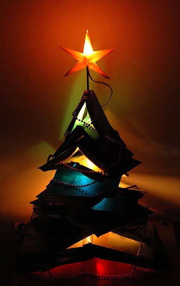 Faça você mesmo árvores de Natal criativas