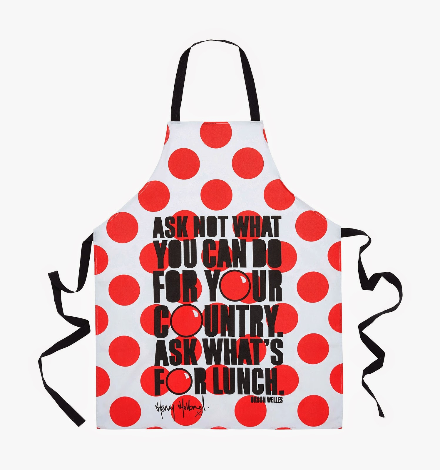 henry holland homesense comic relief apron