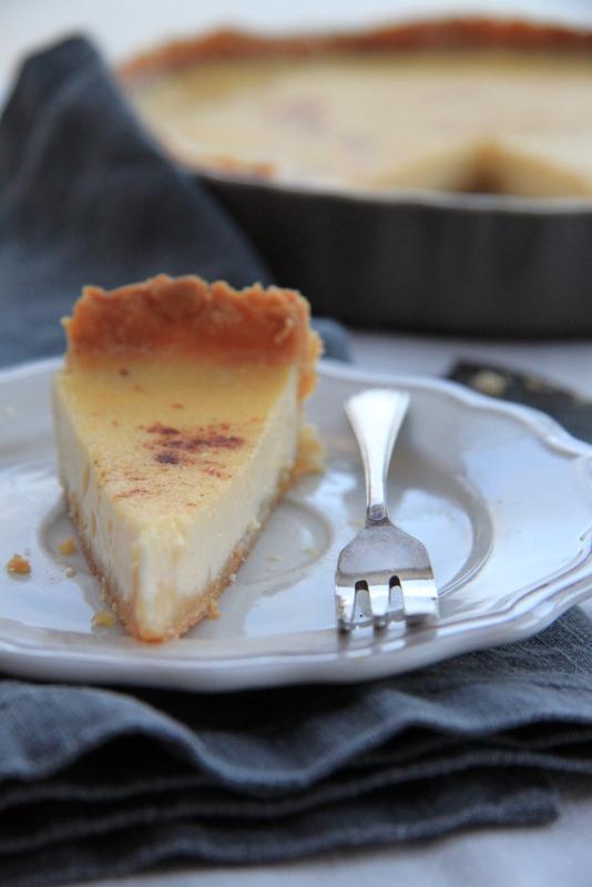 Custard tart - tarta z kremem angielskim