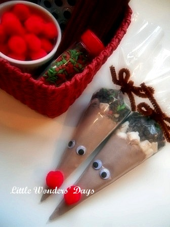 Reindeer Cocoa Cones, Cocoa Gifts