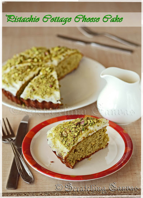 Pistachio Cottage Cheese Cake