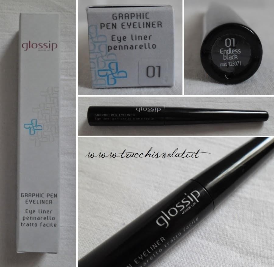 glossip make up graphic pen eyeliner 01 endless black