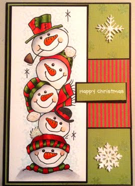 Woodware Snowman Stack card