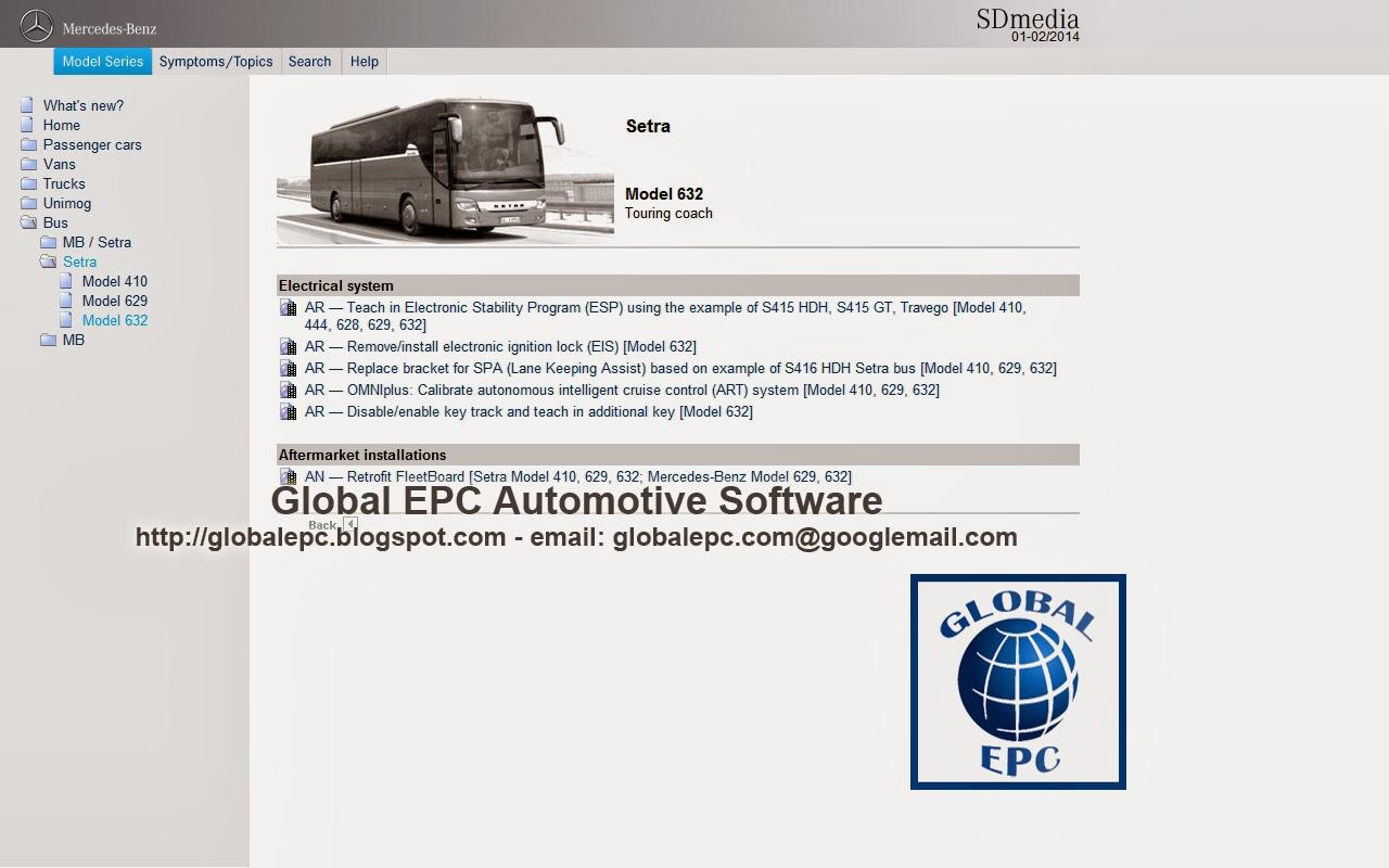 Global epc automotive software mercedes benz smart star for Mercedes benz software