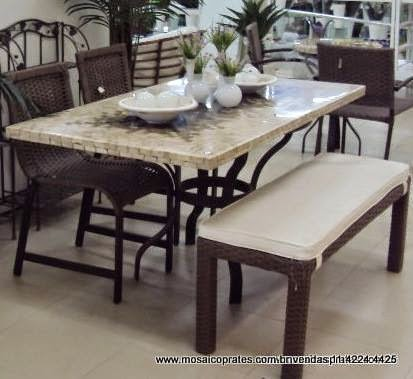 Mosaicos tampo mosaico mesa em mosaico com marmore mesa em mosaico em travertino com granito - Mesa de granito ...