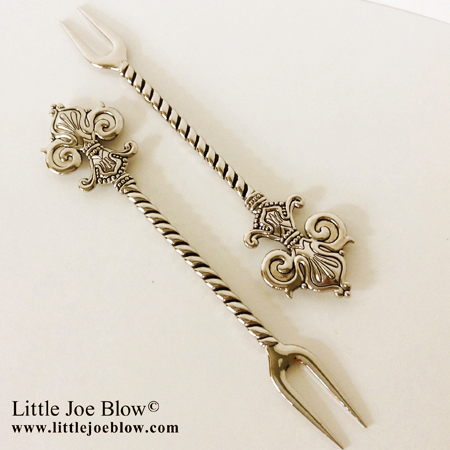 Fleur De Lis Cocktail Forks sold by Little Joe Blow photo 2
