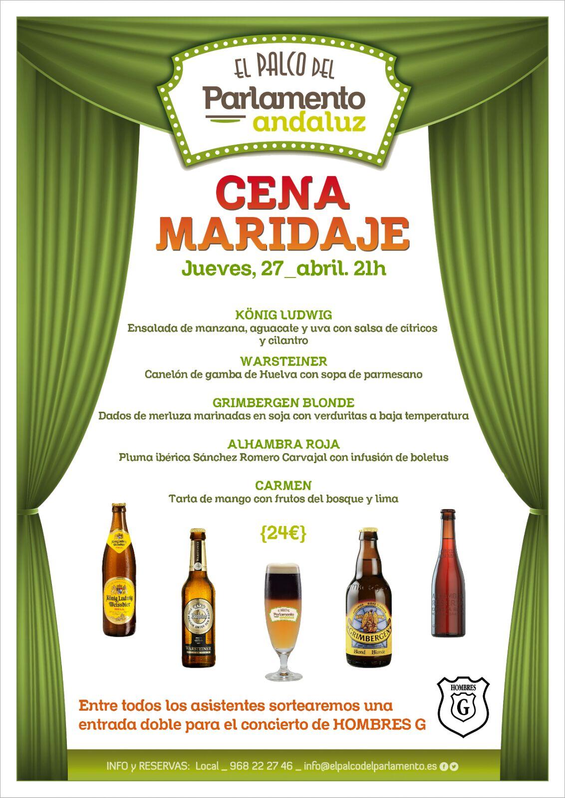 Cena maridaje de cervezas en El Palco del Parlamento Andaluz