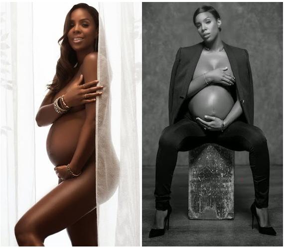 Heavily Pregnant Kelly Rowland strips NAKKED for Elle magazine | Entertainment Nigeria