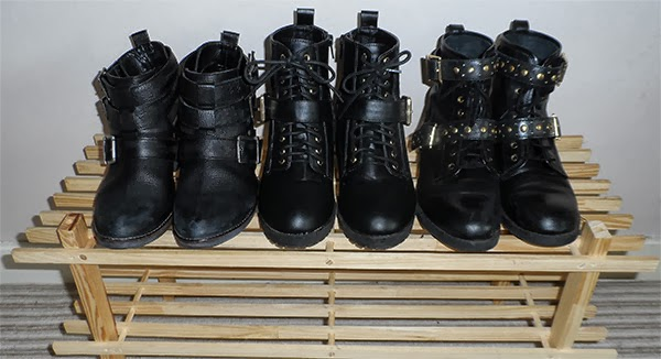 River Island, Primark and ASOS Ankle Boots