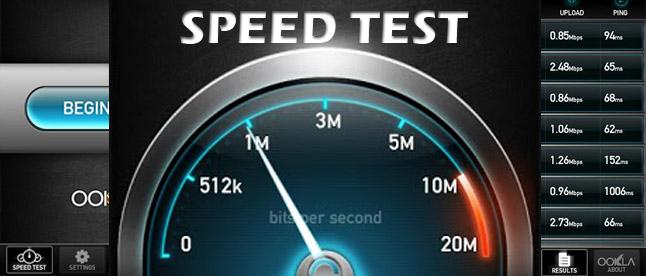 سرعة الإنترنت للأندرويد ، تحميل speedtest